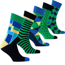 Load image into Gallery viewer, Men's Emerald Mix Set Socks