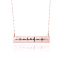 Load image into Gallery viewer, Custom Sound Wave Necklace