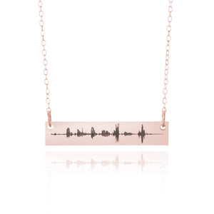 Custom Sound Wave Necklace