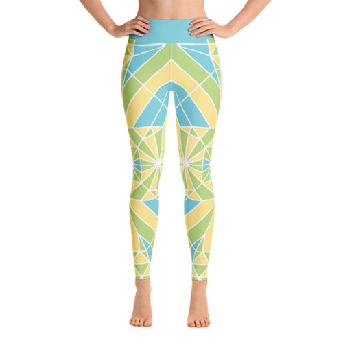 Yoga Leggings – Emerald Leap