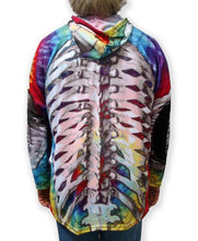 Load image into Gallery viewer, SKELETON in TIE-DYE Hoodie Sport Shirt by MOUTHMAN®