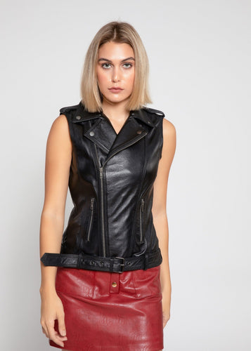Womens Liana Leather Vest