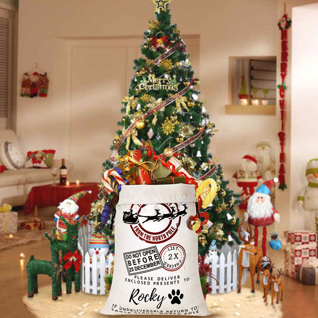 "Personalized Santa Gift Sack - ""Do Not Open Before"""