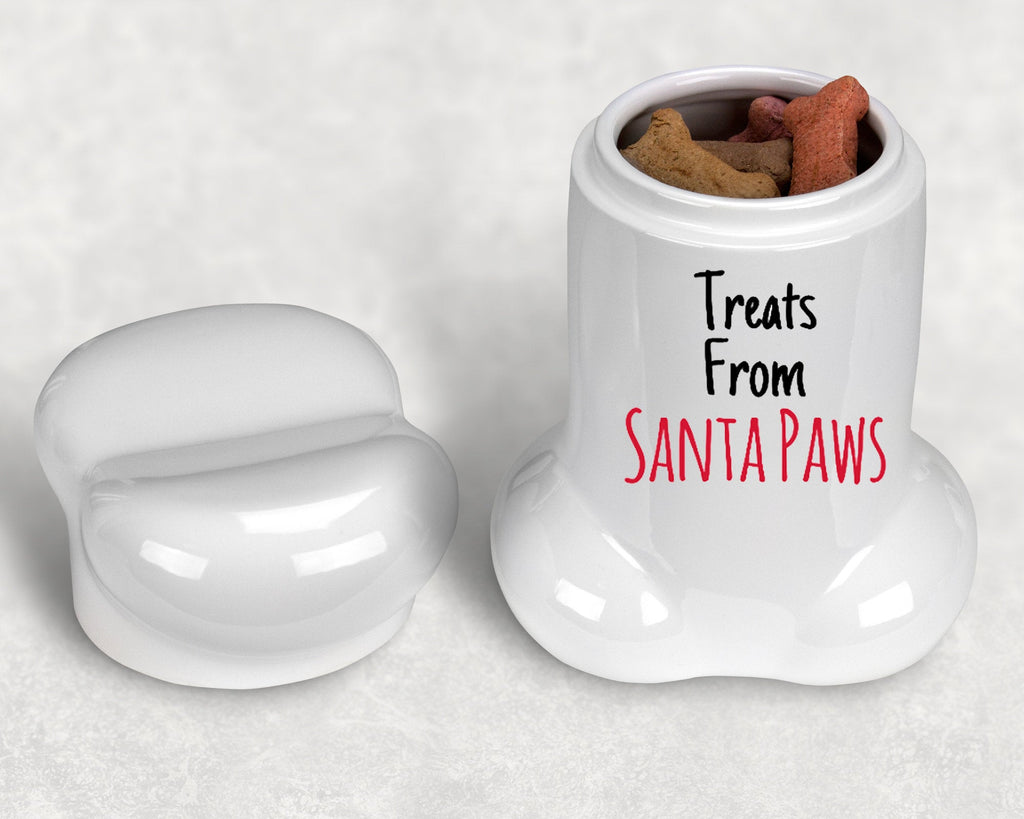 Christmas Dog Bone Shape Treat Jar - Treats From Santa Paws