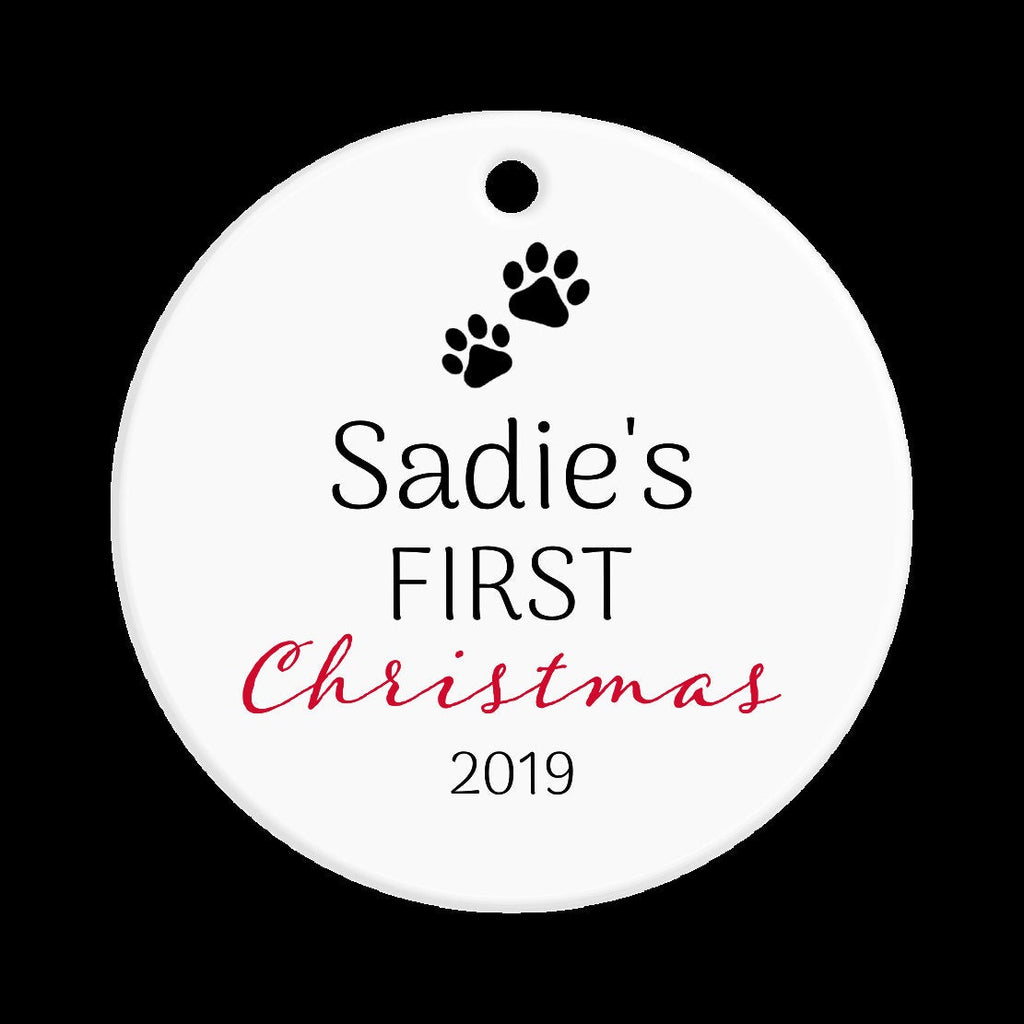 Personalized Pet Ornament - 1st Christmas