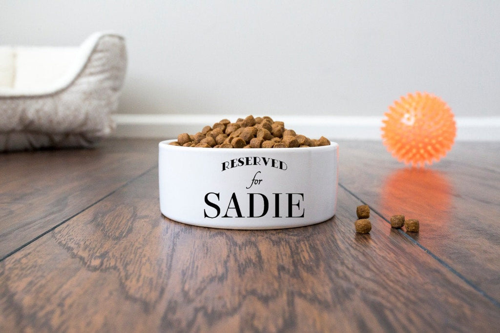 Personalized Pet Dog Bowl with Name - Reserved for