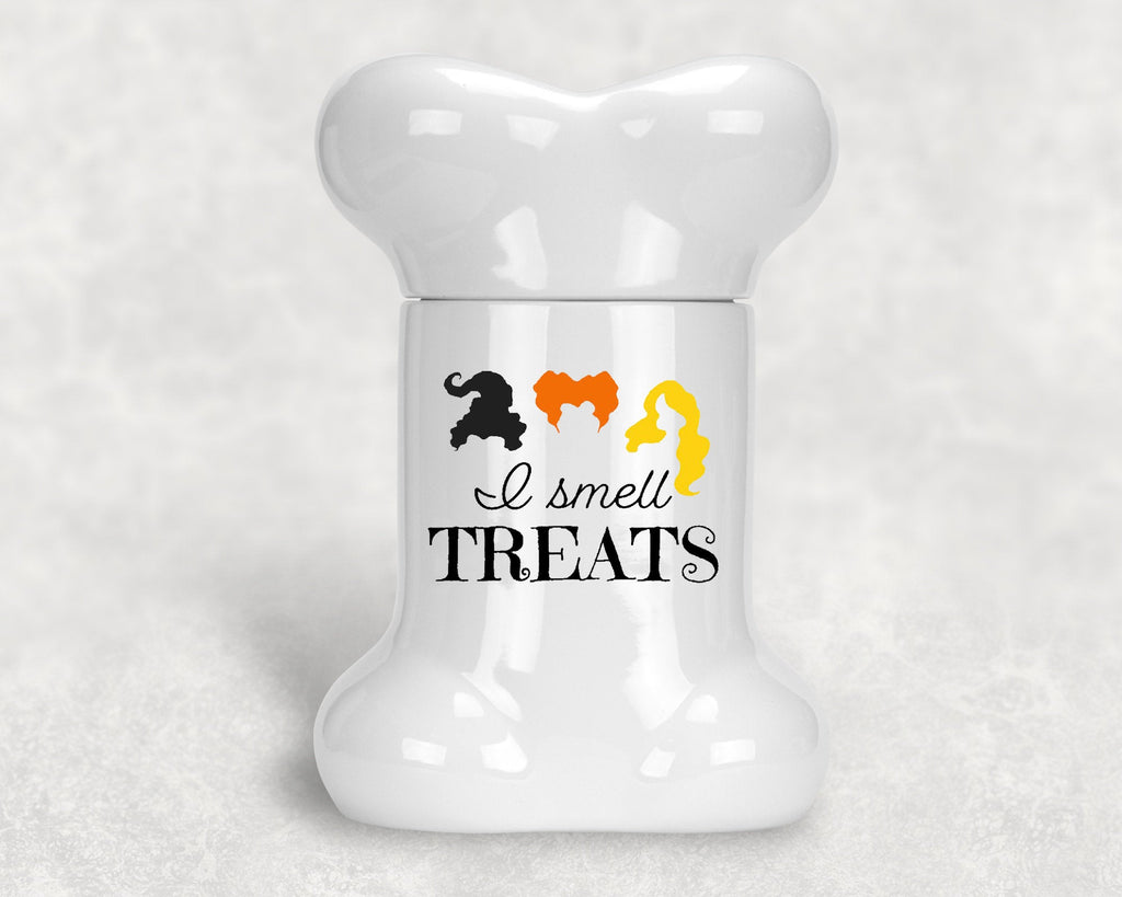 Halloween Dog Bone Shape Treat Jar - Hocus Pocus - I Smell Treats