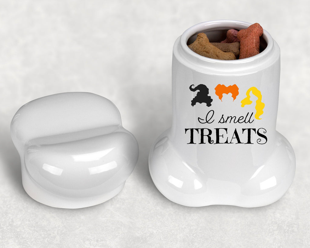 "Halloween Dog Bone Shape Treat Jar - 9"" H - Hocus Pocus - I Smell Treats"