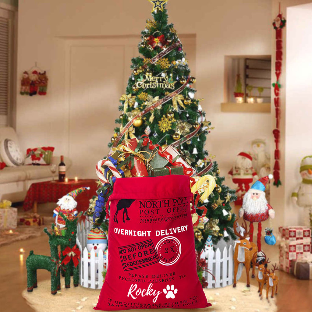 "Personalized Santa Gift Sack - ""Do Not Open Before"" - Red"