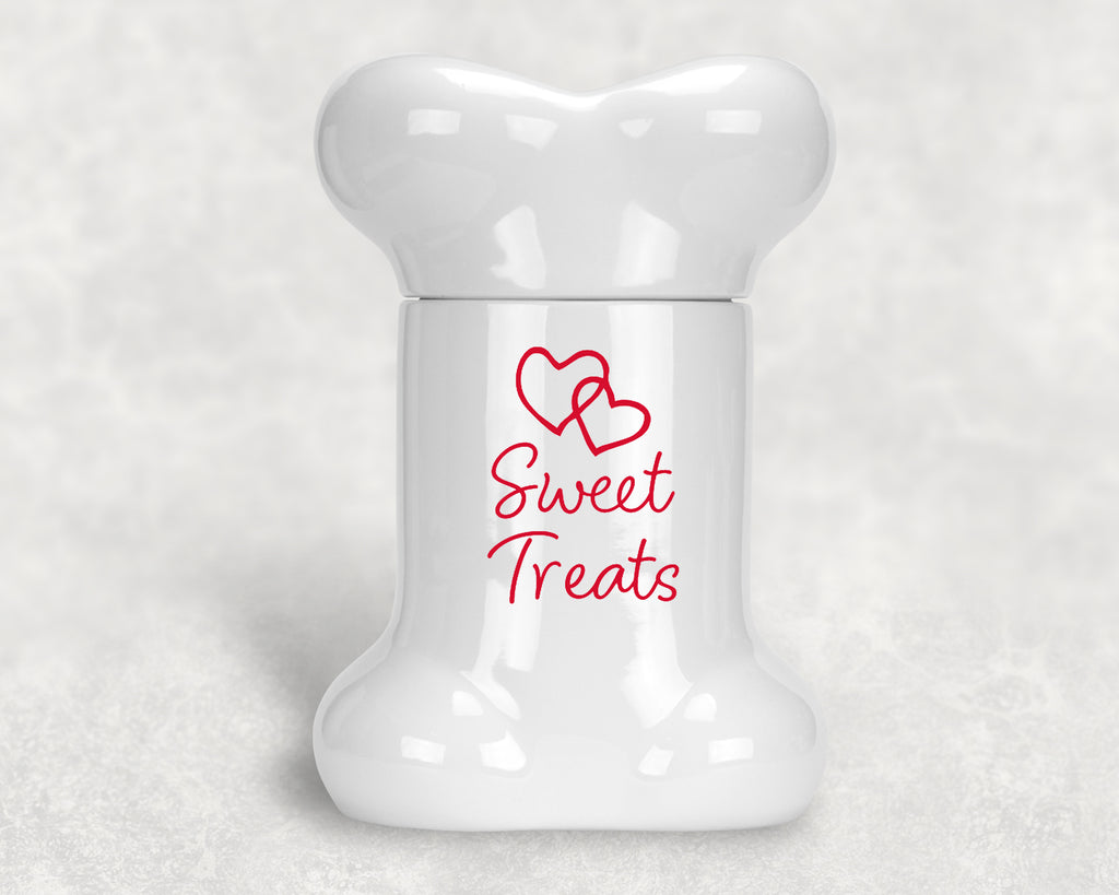 Valentine's Day Bone Treat Jar - Sweet Treats