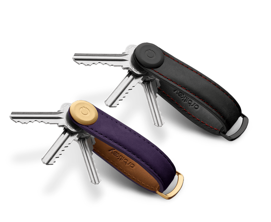 Orbitkey Obsidian Red and Aubergine Purple