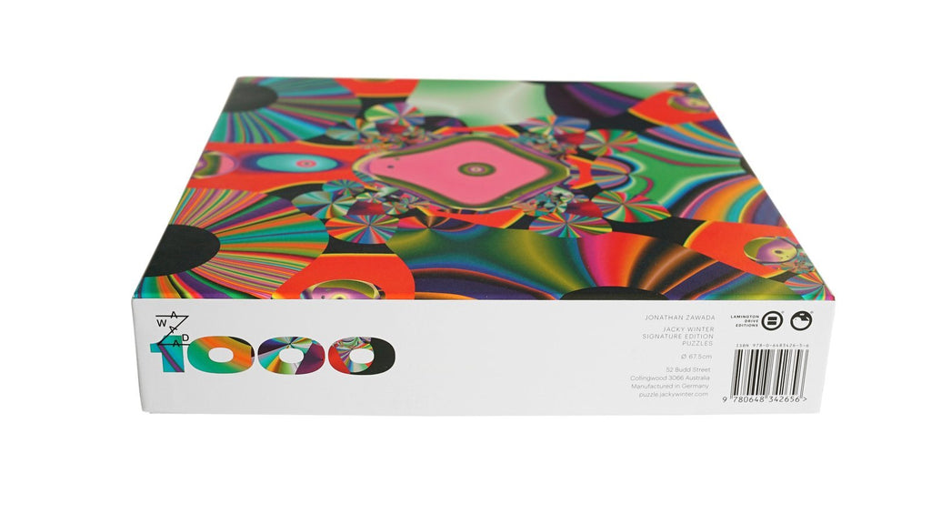 Jonathan Zawada Artists' Edition 1000 Piece Circle Puzzle. Compendium Design Store, Fremantle. AfterPay, ZipPay accepted.
