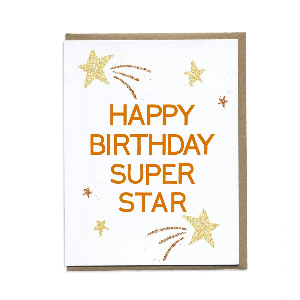 Happy Birthday Super Star. Compendium Design Store, Fremantle. AfterPay, ZipPay accepted.