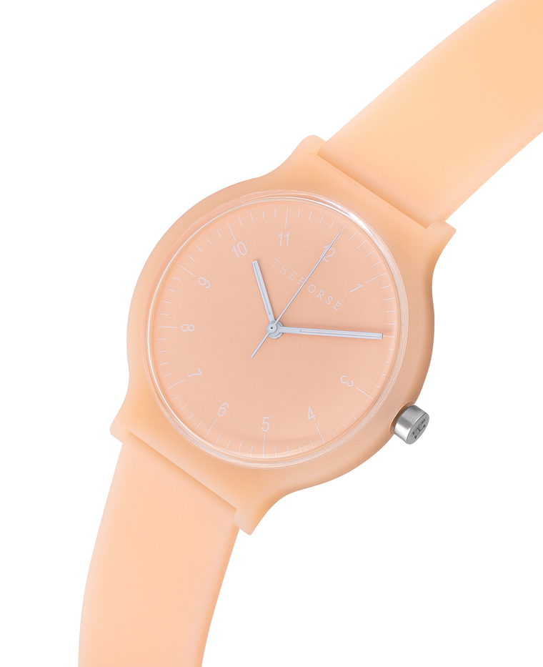 The Blockout Watch in Peach