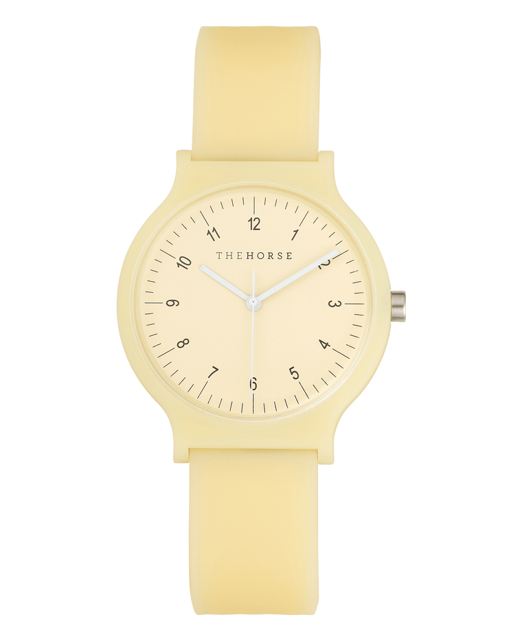 SA7 The Horse Blockout Unisex Watch in Buttermilk Yellow