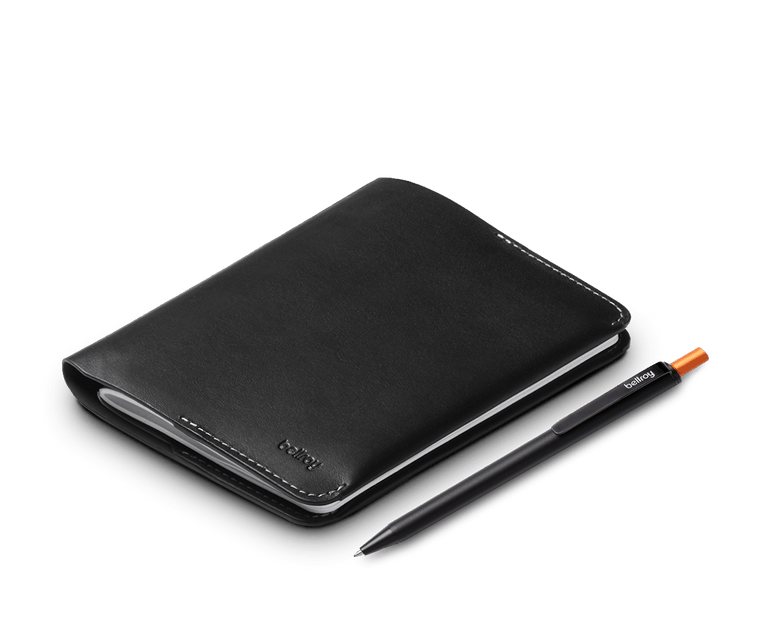 Bellroy Leather Notebook Cover & Notetaker Pen Set
