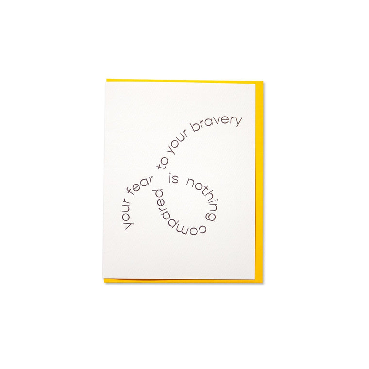 Bravery Greeting Card