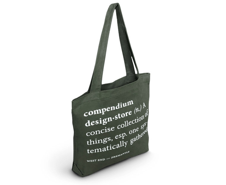 Compendium Design Store  Definition Tote Bag in Army Green