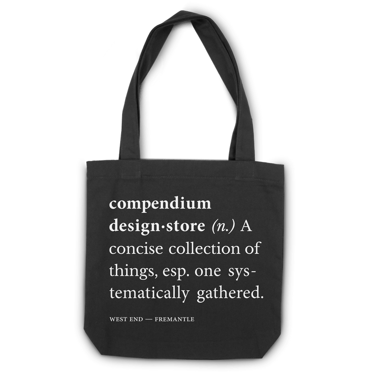 Compendium Design Store Definition Tote Bag in Black