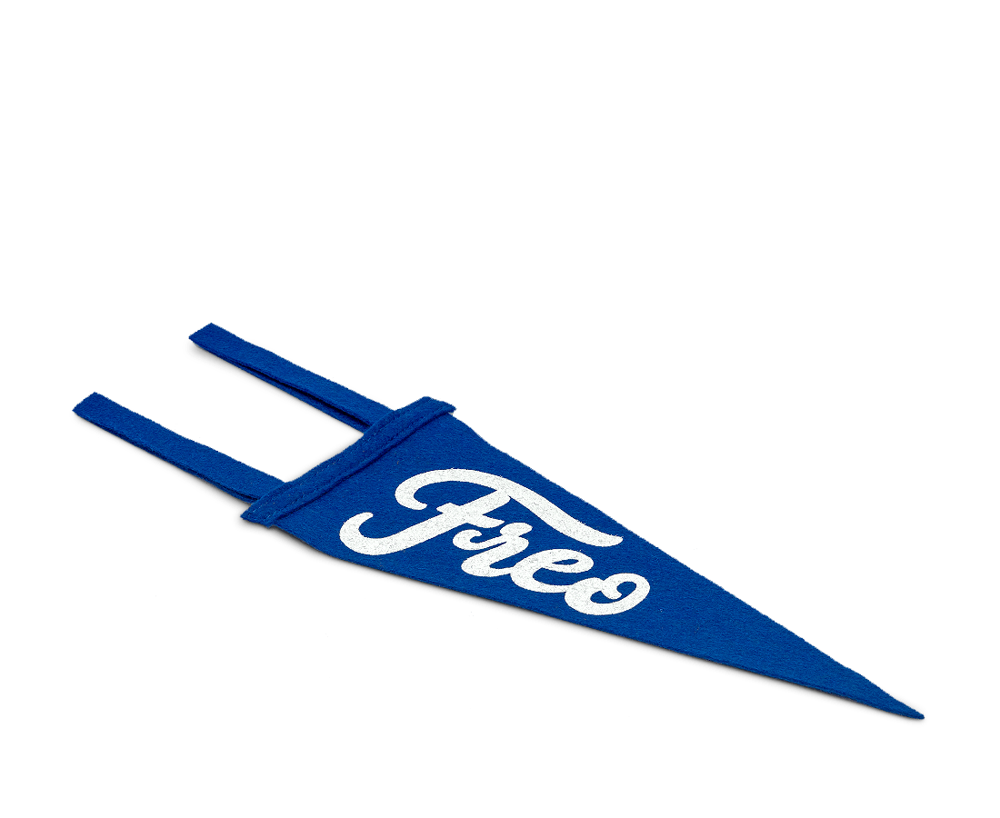 Freo Pennant Flag Mini · Shark Blue & White. Compendium Design Store, Fremantle. AfterPay, ZipPay accepted.