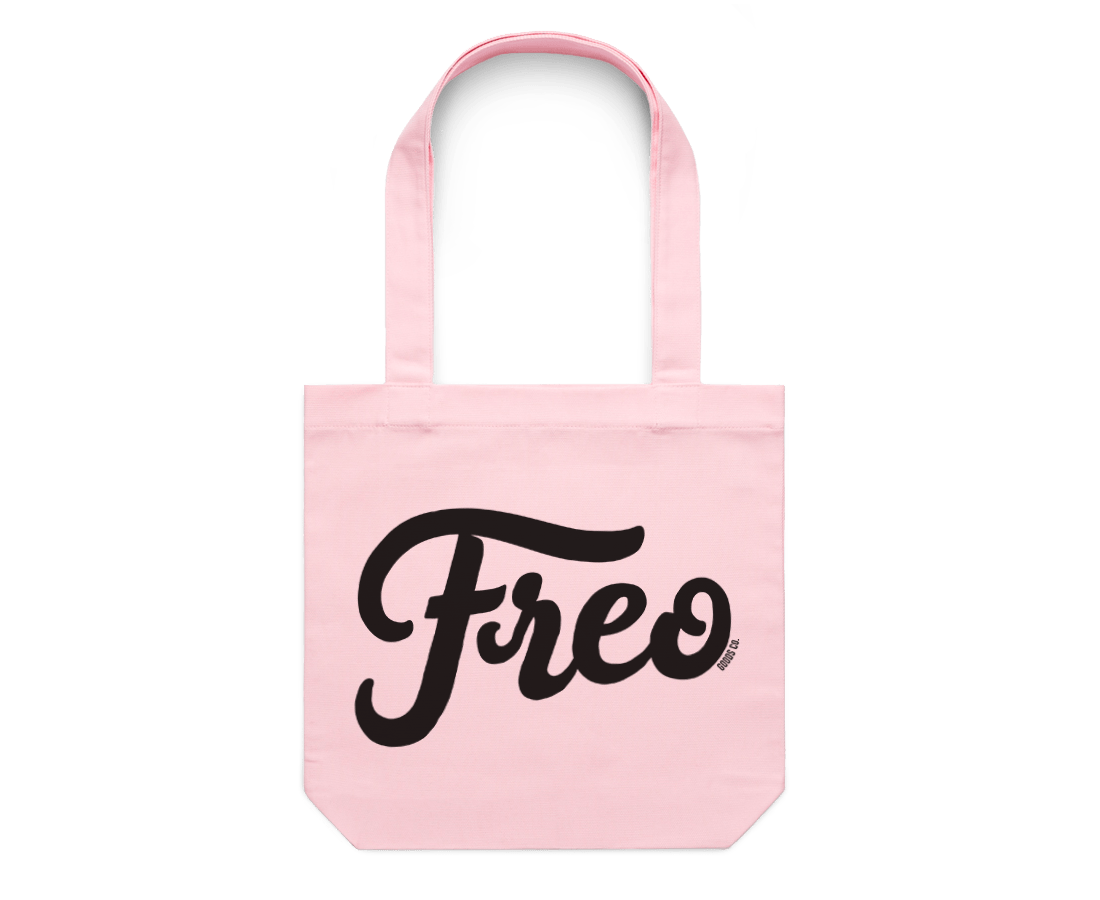 Freo Goods Co x C·D·S Tote Bag in Pink. Compendium Design Store, Fremantle. AfterPay, ZipPay accepted.