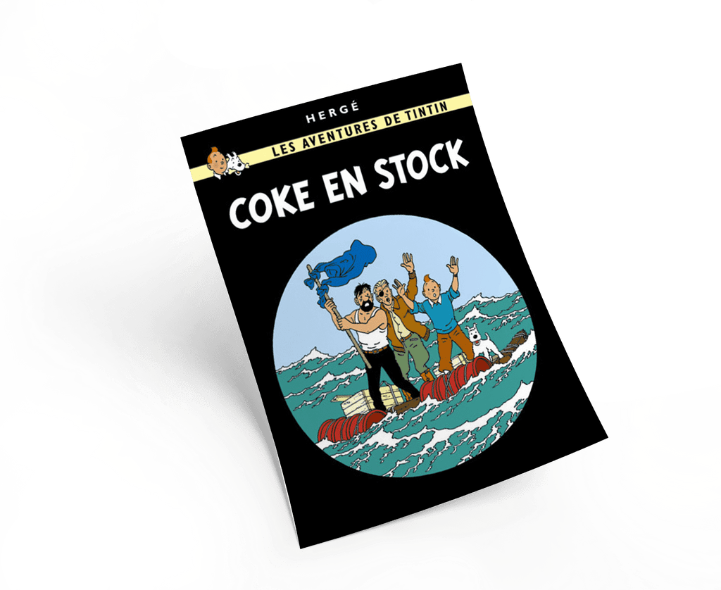 The Adventures of Tintin: Coke en Stock Poster in French. 50x70cm. Compendium Design Store, Fremantle. AfterPay, ZipPay accepted.