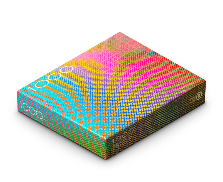 1000 Vibrating Colours Puzzle by Clemens Habicht