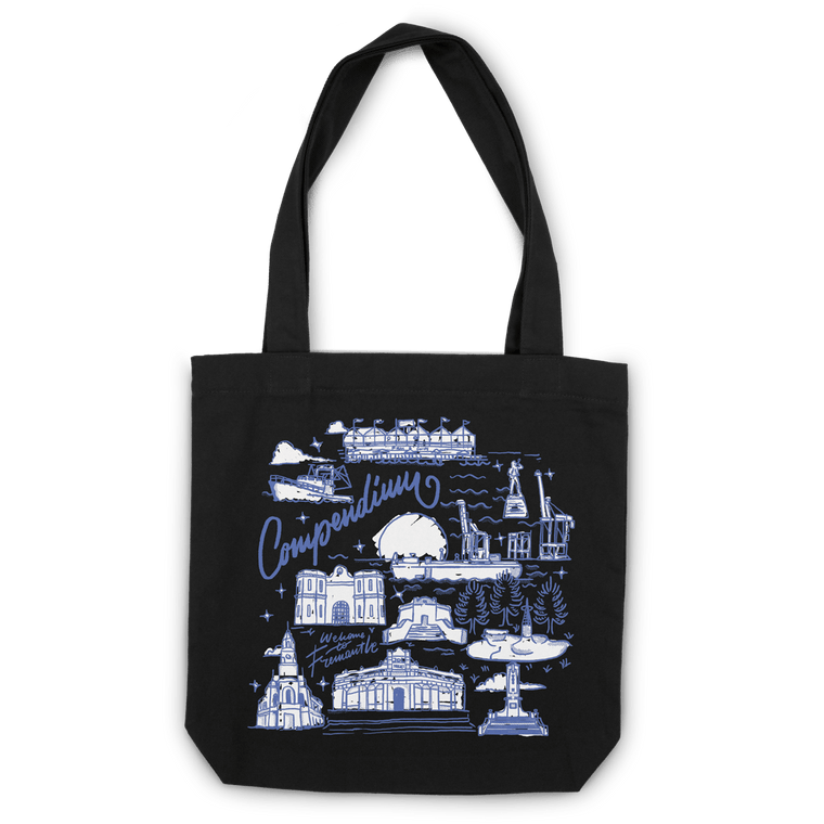 Freo Goods Co Welcome To Fremantle Tote Bag in Black