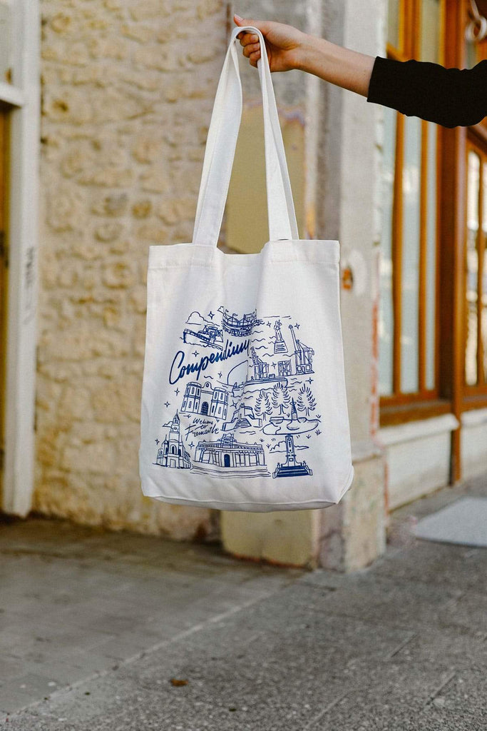 Freo Goods Co Welcome To Fremantle Tote Bag in Natural. Compendium Design Store, Fremantle. AfterPay, ZipPay accepted.