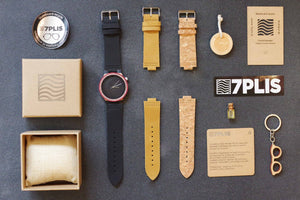 Montre 7PLIS skateboard recyclé #185