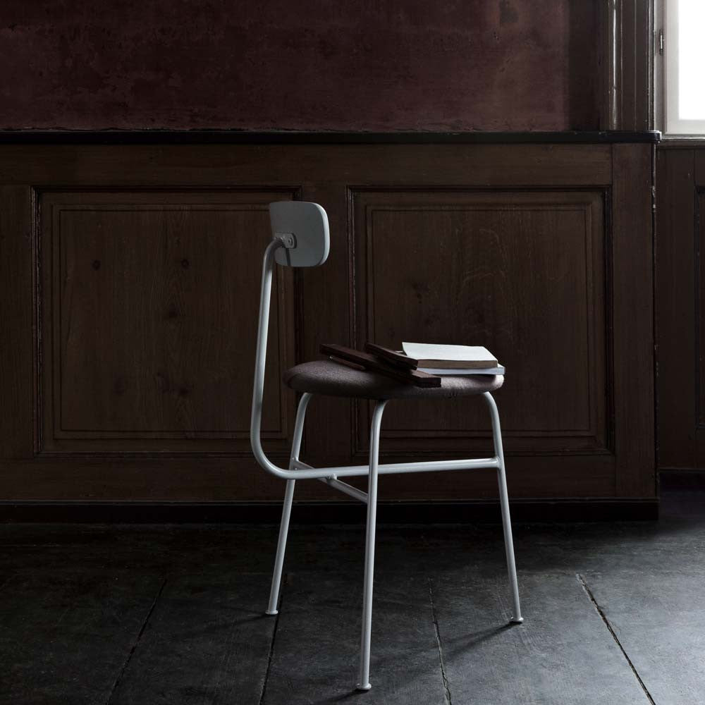 MENU Afteroom Chair Stol Stoppad Padded Grey Light Grey Grå Ljusgrå