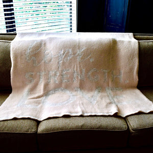 Blush Cozy Blanket - Hope, Strength, Love
