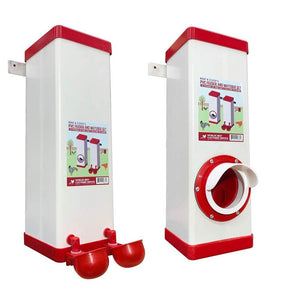 PVC Twin Cup Chicken Waterer/Feeder Set - 10 lbs/2 Gal