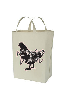 Chicken Themed Canvas Tote Bags - MAMA HEN