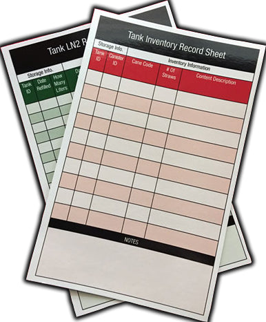 Tank Inventory Packet Refill Cards