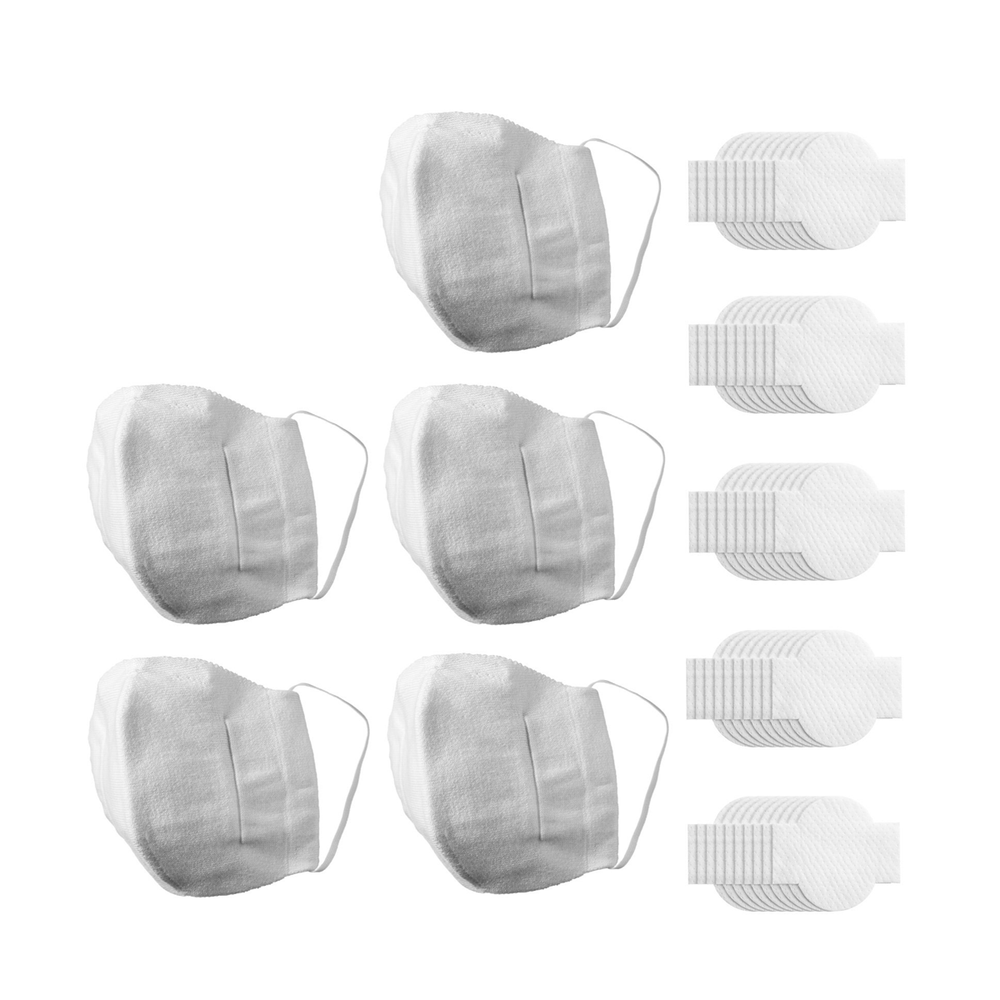 Bulk Mask: Cotton Mask w/ Antimicrobial Finish 5 pack - Adult Size