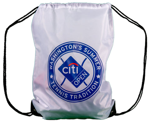 Citi Open Drawstring Bag - White