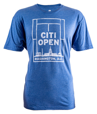 Tennis Court Skyline Tee - Royal
