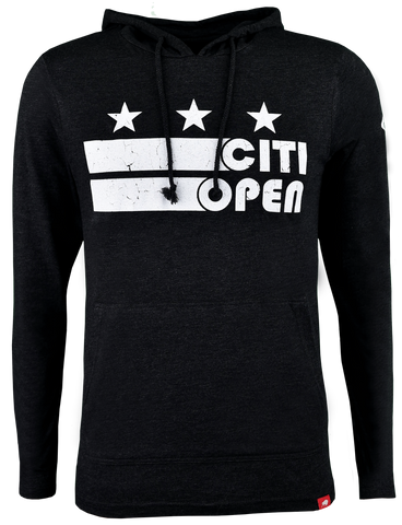 Core Logo Stars & Stripes Lightweight Hoodie - Black
