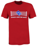 Tennis Net Tee - Red