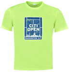 Youth Tennis Court Skyline Tee - Neon Yellow