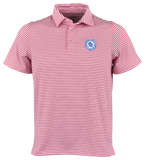 Youth Circle Logo Stripe Polo - Red