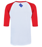 Youth Core Logo Stars & Stripes 3/4 Sleeve Raglan - Red & White