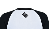 Core Logo Stars & Stripes 3/4 Sleeve Raglan - Black & White