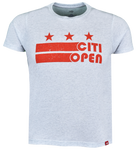 Youth Core Logo Stars & Stripes Tee - Light Grey