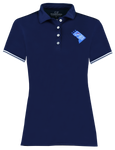 Womens DC State Logo Polo - Navy