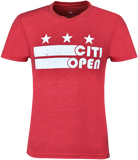 Core Logo Stars & Stripes Tee - Red