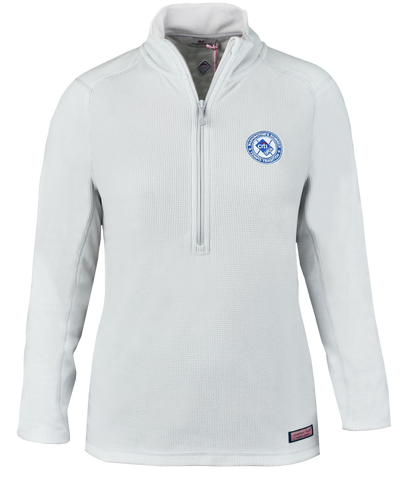 Womens Circle Logo Grid Fleece 1/2 Zip - White