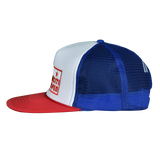Box Core Logo Stars & Stripes Big Trucker Hat - Royal / White / Red