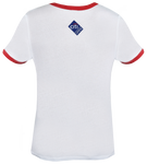 Core Logo Stars & Stripes Ringer Tee - White